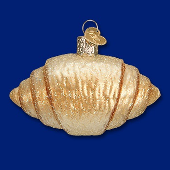 "Old World Christmas Glass Ornament - ""Croissant"""
