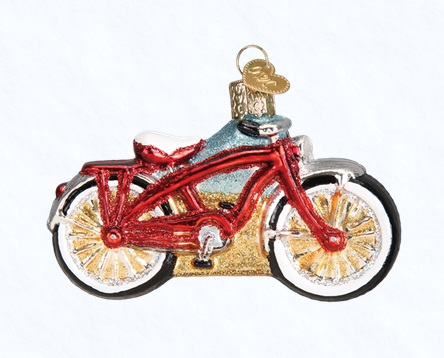 "Old World Christmas Glass Ornament - ""Cruiser Bike"""