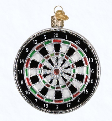 "Old World Christmas Glass Ornament - ""Dart Board"""