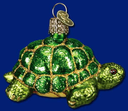 "Old World Christmas Glass Ornament  - ""Desert Tortoise"""