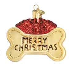 Old World Christmas Glass Ornament - Dog Treat