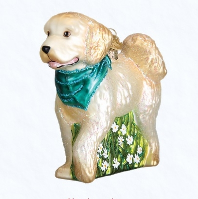 "Old World Christmas Glass Ornament - ""Doodle Dog"""