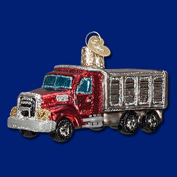 "Old World Christmas Glass Ornament - ""Dump Truck"""