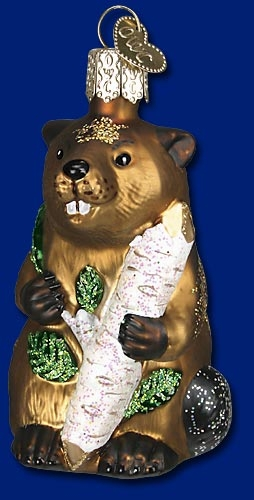 "Old World Christmas Glass Ornament  - ""Eager Beaver"""