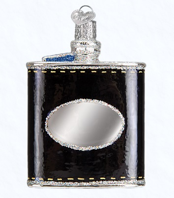 "Old World Christmas Glass Ornament - ""Flask"""