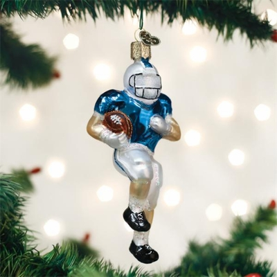 "Old World Christmas Glass Ornament - ""Football Player"""