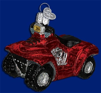 "Old World Christmas Glass Ornament  - ""Four Wheeler"""