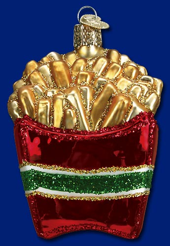 "Old World Christmas Glass Ornament  - ""French Fries"""