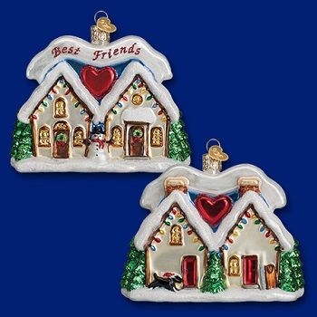 "Old World Christmas Glass Ornament - ""Friendship House"""