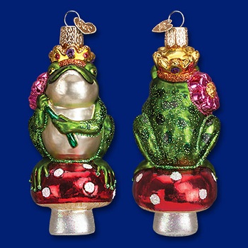 "Old World Christmas Glass Ornament - ""Frog Prince"""