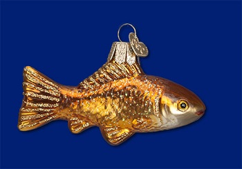 "Old World Christmas Glass Ornament - ""Goldfish"""