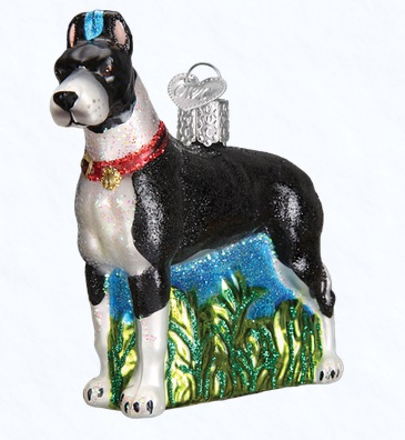 Old World Christmas Glass Ornament - Great Dane
