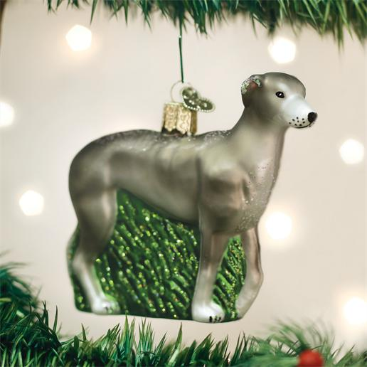 "Old World Christmas Glass Ornament - ""Greyhound"""