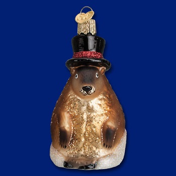 "Old World Christmas Glass Ornament - ""Ground Hog"""