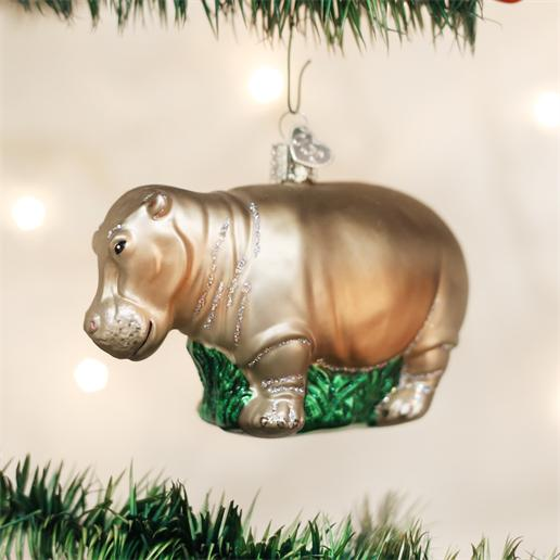 "Old World Christmas Glass Ornament - ""Hippopotamus"""