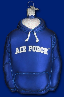 "Old World Christmas Glass Ornament - ""Hoodie - Air Force"""