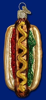 "Old World Christmas Glass Ornament - ""Hot Dog"""