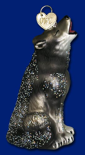 "Old World Christmas Glass Ornament  - ""Howling Wolf"""