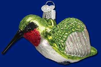 "Old World Christmas Glass Ornament  - ""Hummingbird"""