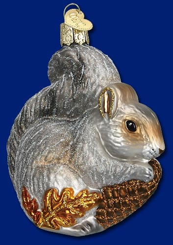 "Old World Christmas Glass Ornament  - ""Hungry Squirrel"""