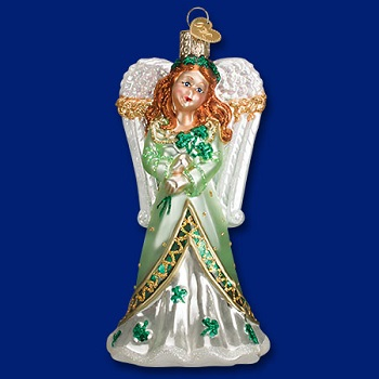 "Old World Christmas Glass Ornament - ""Irish Angel"""