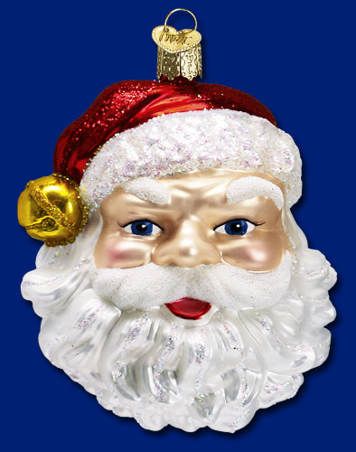 "Old World Christmas Glass Ornament  - ""Jingle Bell Santa"""