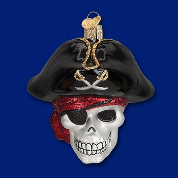 "Old World Christmas Glass Ornament - ""Jolly Roger"""