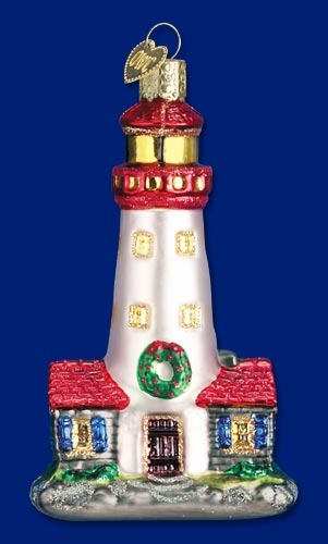 "Old World Christmas Glass Ornament - ""Lighthouse"""