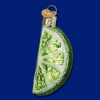 "Old World Christmas Glass Ornament - ""Lime Slice"""