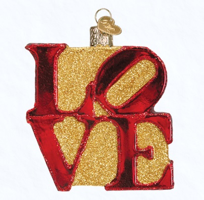 "Old World Christmas Glass Ornament - ""Love"""