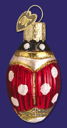 "Old World Christmas Glass Ornament  - ""Lucky Ladybug"""