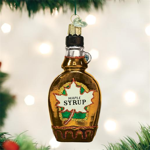 "Old World Christmas Glass Ornament - ""Maple Syrup"""