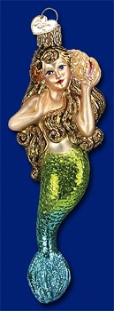 "Old World Christmas Glass Ornament - ""Mermaid"""