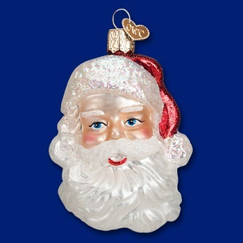 Old World Christmas Glass Ornament - Mid Century Santa