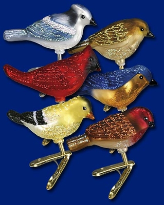 "Old World Christmas Glass Ornament - ""Mini Songbirds"""