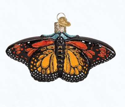 "Old World Christmas Glass Ornament - ""Monarch Butterfly"""