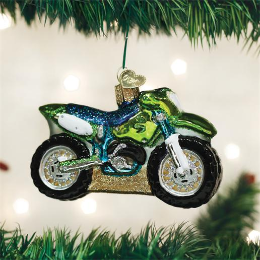 "Old World Christmas Glass Ornament - ""Motocross Bike"""