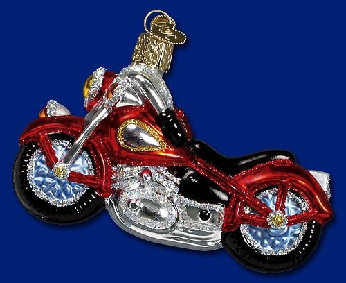 "Old World Christmas Glass Ornament  - ""Motorcycle"""
