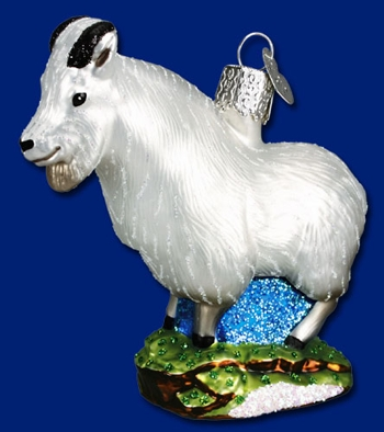 "Old World Christmas Glass Ornament - ""Mountain Goat"""