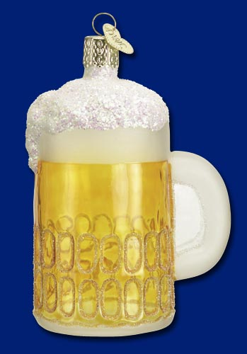 "Old World Christmas Glass Ornament  - ""Mug of  Beer"""