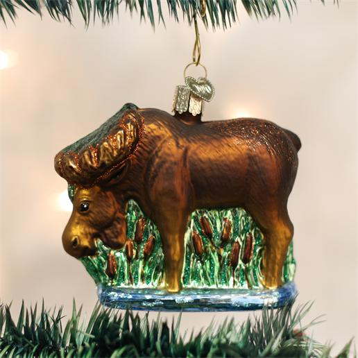 "Old World Christmas Glass Ornament - ""Munching Moose"""