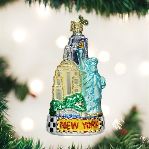 "Old World Christmas Glass Ornament - ""New York City"""