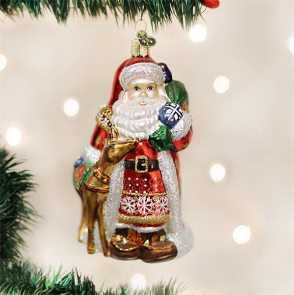 "Old World Christmas Glass Ornament - ""Nordic Santa"""