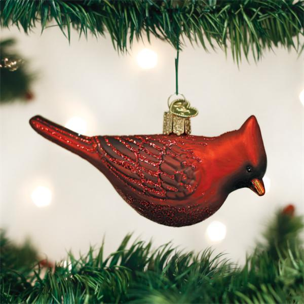"Old World Christmas Glass Ornament - ""Northern Cardinal"""