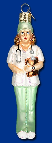 "Old World Christmas Glass Ornament - ""Nurse"""