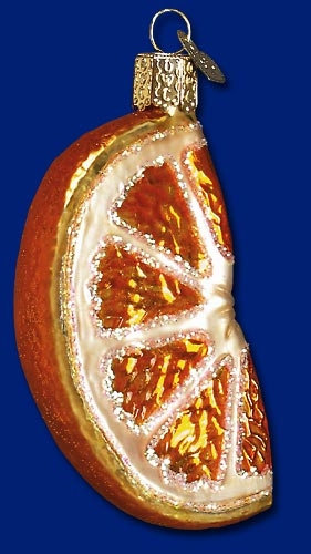 "Old  World Christmas Glass Ornament - ""Orange  Wedge"""