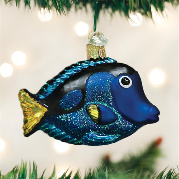 Old World Christmas Glass Ornament - Pacific Blue Tang