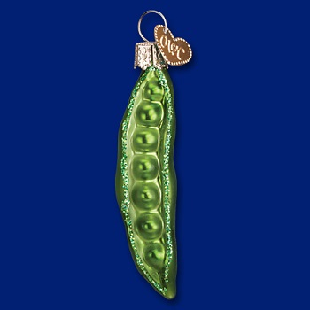"Old World Christmas Glass Ornament - ""Peapod"""