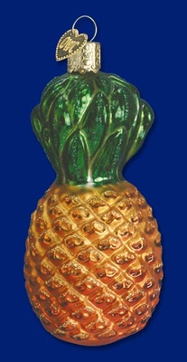 "Old World Christmas Glass Ornament  - ""Pineapple"""