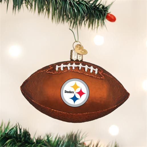 "Old World Christmas Glass Ornament - ""Pittsburgh Steelers Football"""